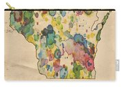 Wisconsin Map Vintage Watercolor Carry-all Pouch