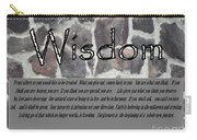 Wisdom In Stone Inspirational Carry-all Pouch