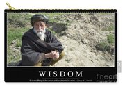 Wisdom Inspirational Quote Carry-all Pouch by Stocktrek Images