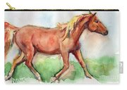 Horse Painted In Watercolor Wisdom Carry-all Pouch