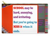 Wisdom Quote School Collage Artistic  Background Designs  And Color Tones N Color Shades Available F Carry-all Pouch