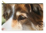 Wise Old Collie Eyes Carry-all Pouch