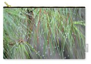 Wispy Winter Raindrops Carry-all Pouch
