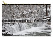 Wissahickon Waterfall In Winter Carry-all Pouch by Bill Cannon