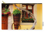 Wisteria And Yellow Wall In Alsace France Carry-all Pouch