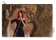 Witch Of The Autumn Forest  Carry-all Pouch by Daniel Eskridge