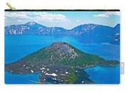 Wizard Island From Watchman Overlook In Crater Lake National Park-oregon  Carry-all Pouch