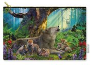 Wolf And Cubs In The Woods Carry-all Pouch
