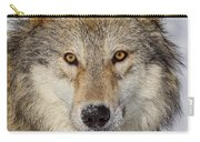 Wolf Face To Face Carry-all Pouch