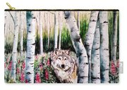 Wolf In Woods Carry-all Pouch