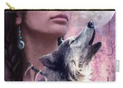 Wolf Montage Carry-all Pouch by Garry Walton