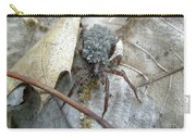 Wolf Spider And Spiderlings Carry-all Pouch
