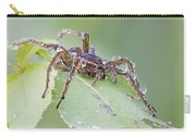 Wolf Spider In Dew  Carry-all Pouch