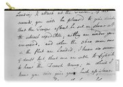 Wolfe Letter, 1759 Carry-all Pouch
