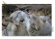 Wolves Playing Carry-all Pouch