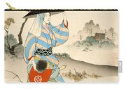 Woman And Child  Carry-all Pouch by Ogata Gekko