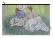 Woman And Girl On The Grass Carry-all Pouch