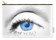 Woman Blue Eye Carry-all Pouch by Michal Bednarek
