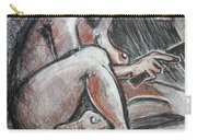 Woman Combing Her Hair - Nudes Carry-all Pouch