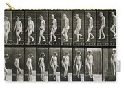 Woman Descending Steps Carry-all Pouch by Eadweard Muybridge