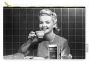 Woman Drinking Nescafe Carry-all Pouch by Underwood Archives