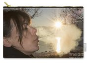 Woman Exhalation Carry-all Pouch