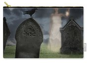 Woman Haunting Cemetery Carry-all Pouch by Amanda Elwell