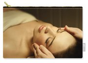 Woman Having A Facial Massage Carry-all Pouch