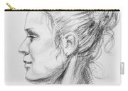 Woman Head Study Carry-all Pouch