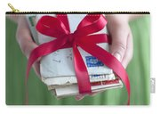 Woman Holding A Bundle Of Love Letters Carry-all Pouch