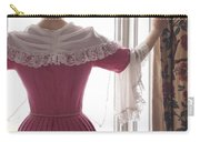 Woman In 18th Century Dress At The Window Carry-all Pouch