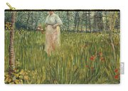 Woman In A Garden Carry-all Pouch