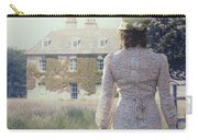 Woman In Front Of A Manor Carry-all Pouch by Joana Kruse