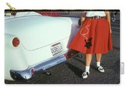 Woman In Red Poodle Skirt And Saddle Carry-all Pouch