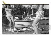 Woman Learning To Water Ski Carry-all Pouch