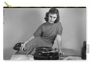 Woman Listening To Records Carry-all Pouch