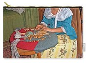 Woman Making Lace In Louisbourg Living History Museum-1744-ns Carry-all Pouch