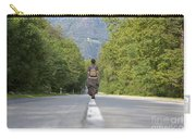 Woman On A Road Carry-all Pouch