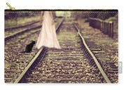 Woman On Railway Line Carry-all Pouch