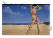 Woman On The Beach... Carry-all Pouch
