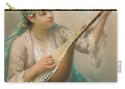 Woman Playing A String Instrument Carry-all Pouch