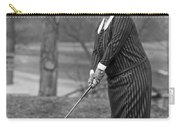 Woman Ready To Play Golf Carry-all Pouch