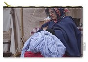 Woman Reenactor Sewing In A Civil War Camp Carry-all Pouch