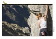 Woman Rock Climbing, India Carry-all Pouch