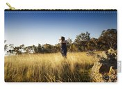 Woman Running Through Field Carry-all Pouch