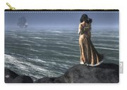 Woman Watching A Ship Sailing Away Carry-all Pouch