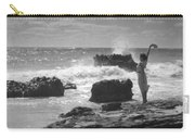 Woman Waving On Shore Carry-all Pouch