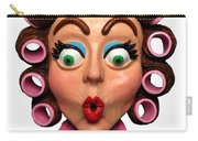 Woman Wearing Curlers Carry-all Pouch by Amy Vangsgard