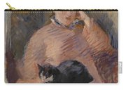 Woman With A Cat Carry-all Pouch