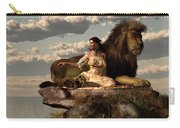Woman With Lion Carry-all Pouch by Daniel Eskridge